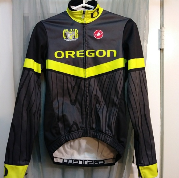 finest selection 5a3c6 b033f RARE! U of Oregon Ducks cycling CASTELLI jacket